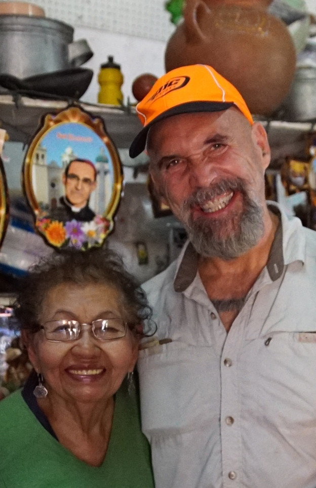"""With Alba Gladis Villalobos Amaya, 84, who for years ran a day care for the children of revolutionary fighters, all of whom called her """"Abuela,"""" or """"grandmother. She now runs a small shop called Abuela's just off the plaza in Perquin."""